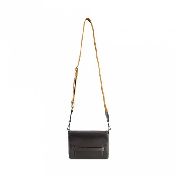 Markberg Vanya Crossbody Bag Grain Black W/Mustard